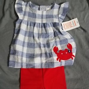 Carters Crab Outfit